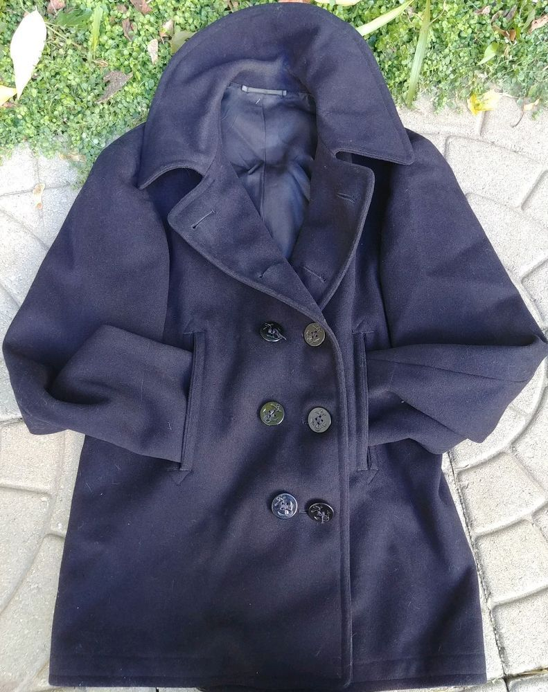 Vintage WWII US Navy Peacoat 10 Button Corduroy Pockets