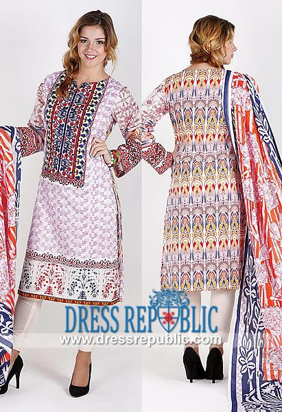 Designer Sawan Collection Lawn and Cotton Prints 2014 By Orient  Latest Fashion in Pakistani Dresses Collection 2014 for Eid ul Azha by Orient Textiles and Other Designer/Brand for Lawn and Printed Dresses. by www.dressrepublic.com