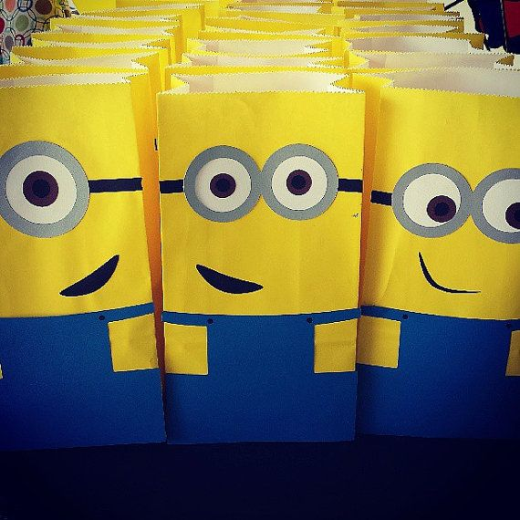 Deable Me Minion Goody Bags By Lexysuniquemom On Etsy 18 00