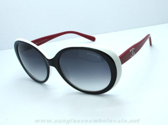 8b5bee2c77dd4 Cheap Chanel 5238 Black Red Grey Gradient Oval Sunglasses Outlet Canada
