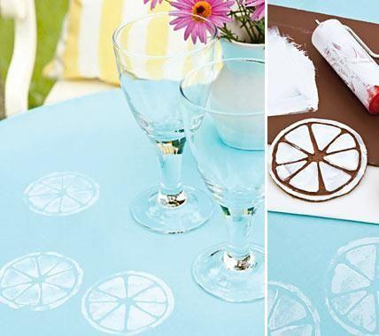 Deko fürs Sommerfest - unsere Ideen  DIY Tischdecke sommerlich