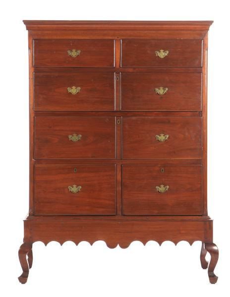 Lot 532 North Carolina Semi Tall Chest On Frame Chests Of