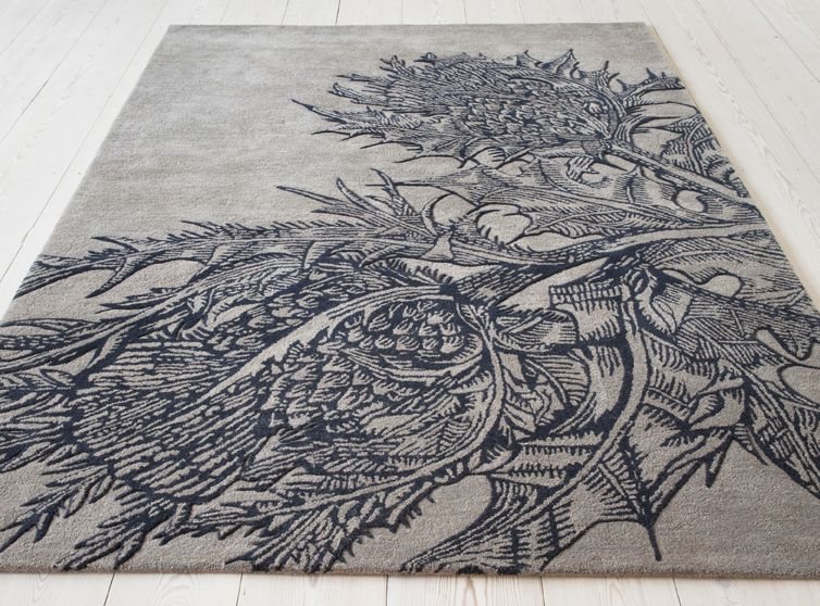 Thistle Rug Timorous Beasties Christopher Farr Textiles