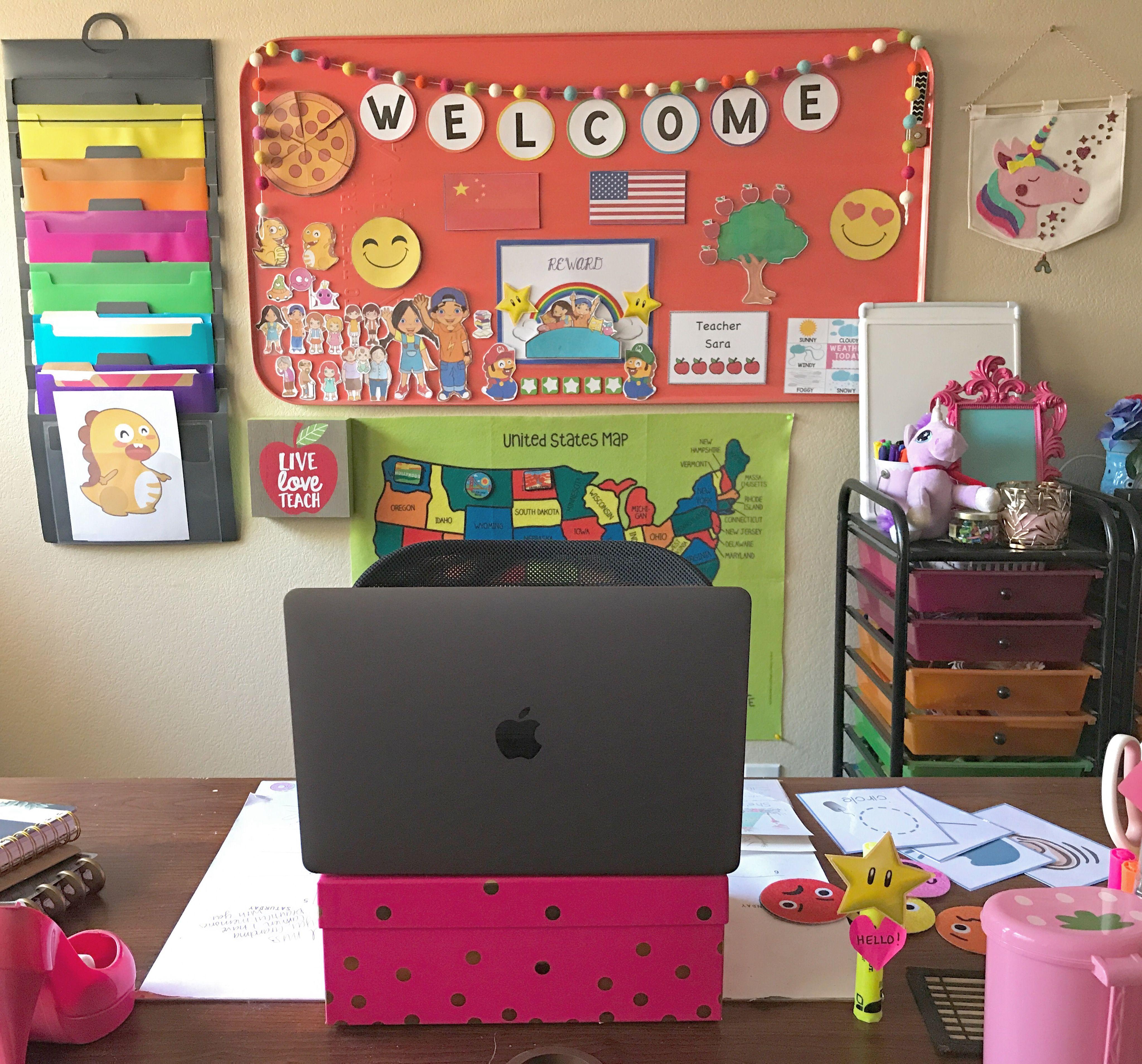 Decorate My Home Online: My VIPKid Classroom #vipkid #vipkidclassroom #workfromhome