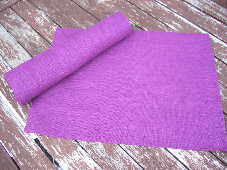 100/% Pure Flax Linen Linen Home Decor Handmade Linen Table Cloth Mitered Corners Light Lilac Linen Table Runner Wedding Decor