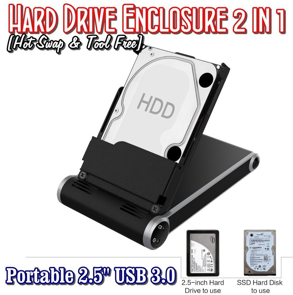 Hard Drive Enclosure 2 In 1 Portable Usb 30 8tb For 25 Hdd Ssd Casing Hardisk Inch Sata External Case 20 Laptop Sowtech