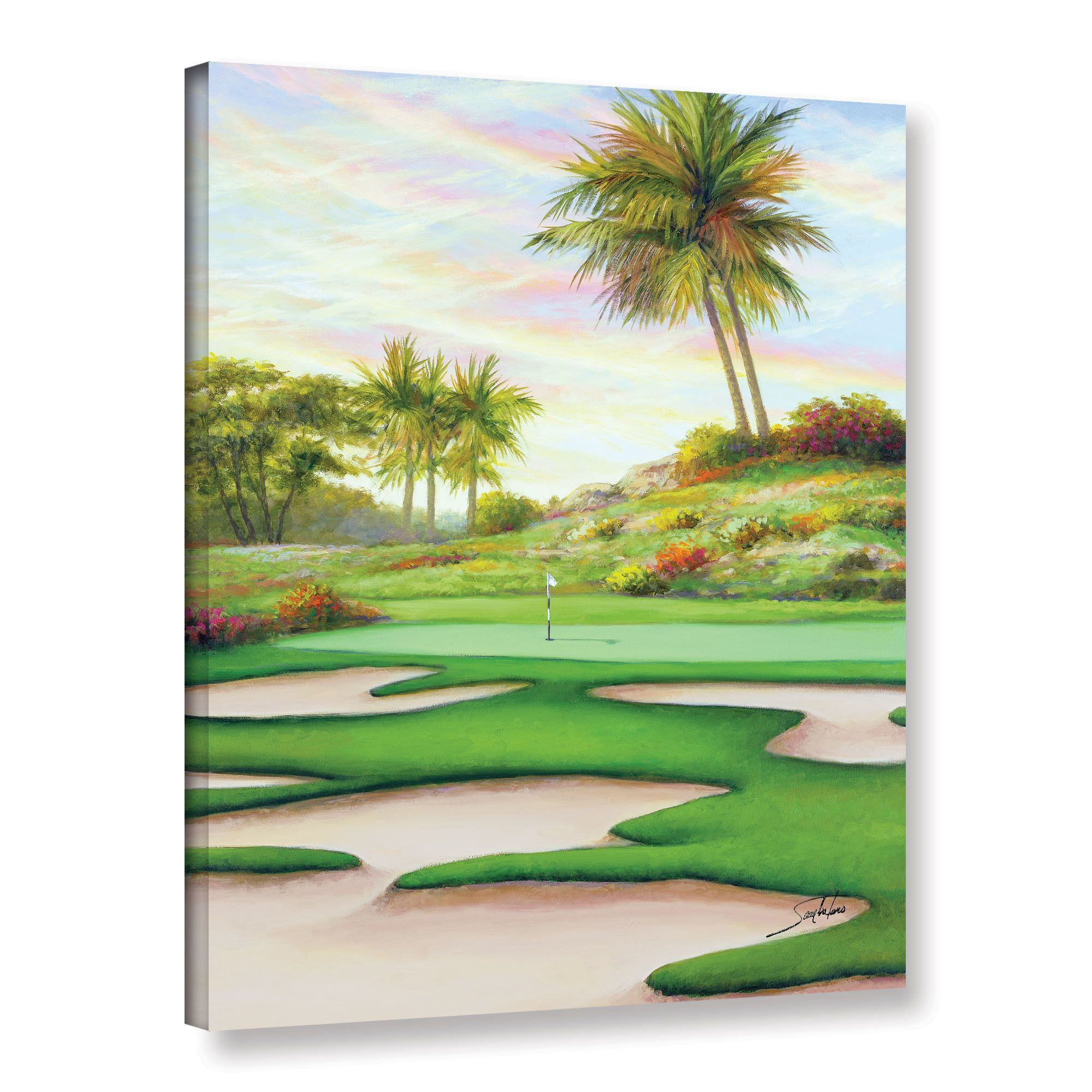 #8 Bunkers At Emeral Dunes Painting Print on Wrapped Canvas