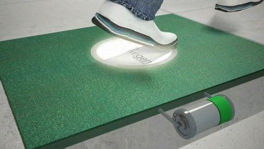 Pavegen Kinetic Energy Generation From Footsteps Kinetic Energy Save Energy Save Money Energy