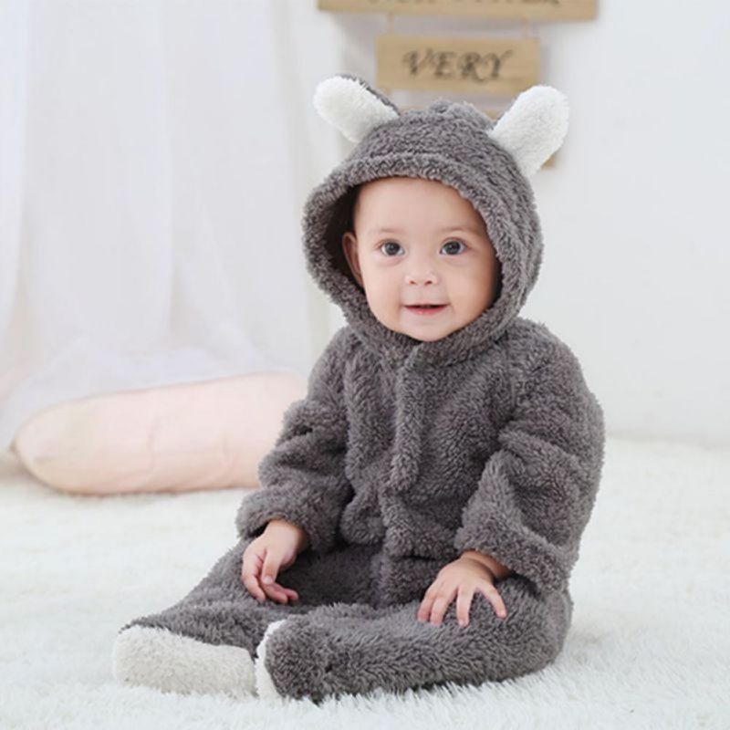36a0adb7578c Newborn Baby Infant Boy Girl Romper Hooded Jumpsuit Bodysuit Outfits ...
