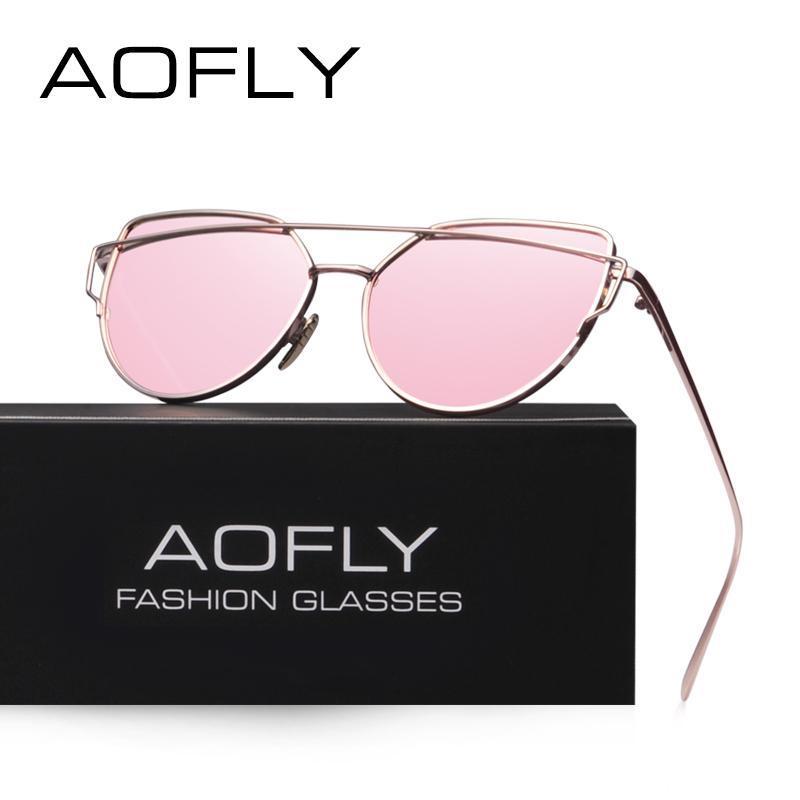 44ed2f232a AOFLY Fashion Sunglasses Women Popular Brand Design Polarized Sunglasses  Summer HD Polaroid Lens Sun Glasses With Original Case