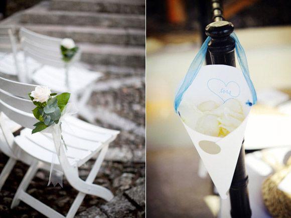 Bonitas propuestas florales para decorar las sillas de una - Decorar un jardin ...