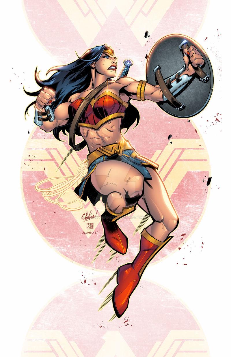 Wonder Woman By Alonsoespinoza On Deviantart In 2021 Wonder Woman Fan Art Artist