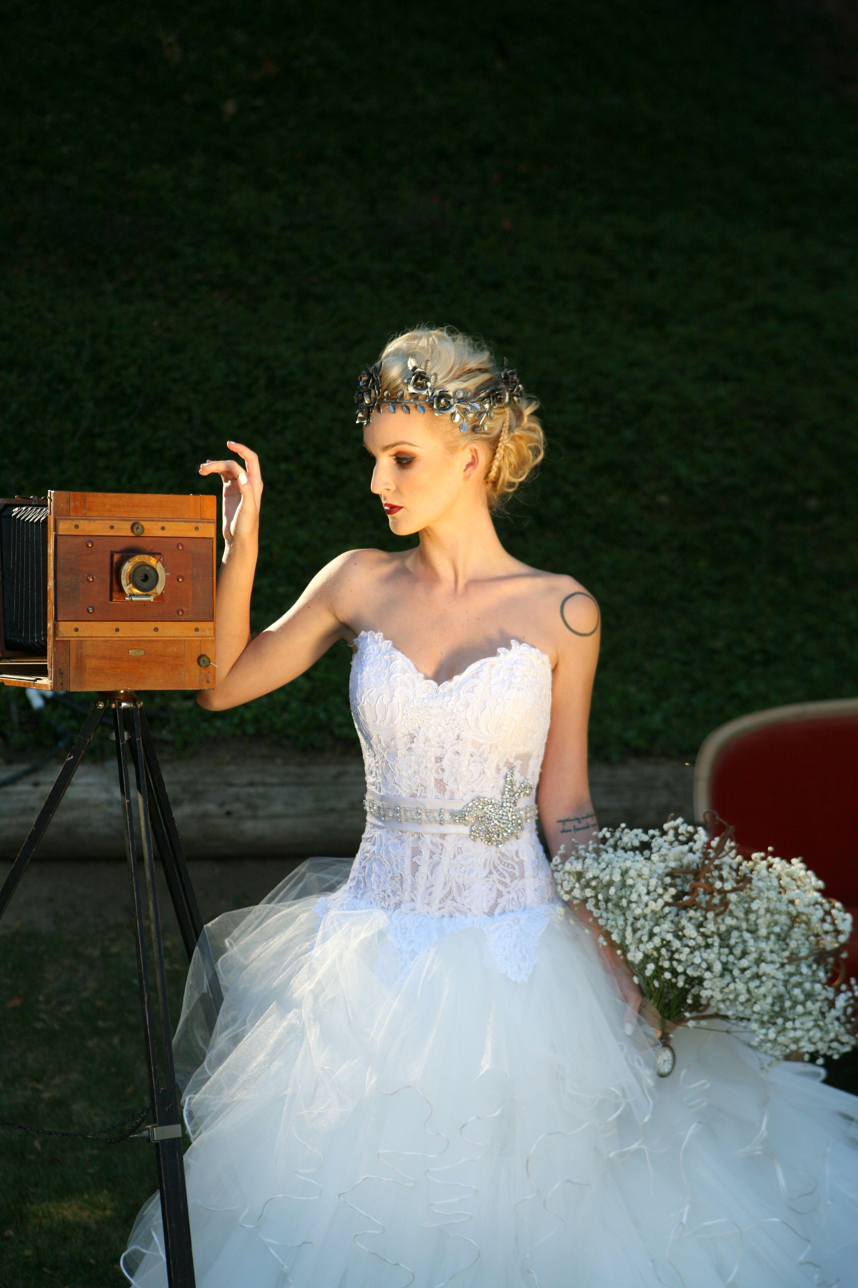 Steampunk wedding dresses  Steampunk wedding bride vintagecamera atyoursideplanning