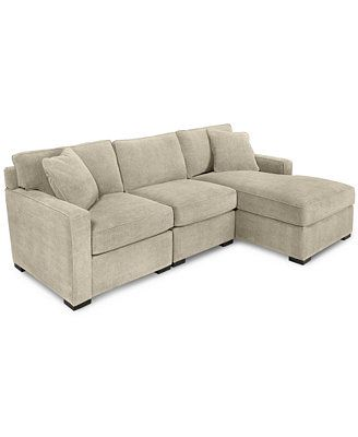 Radley 3-Piece Fabric Chaise Sectional Sofa @ Macyu0027s I saw on ...  sc 1 st  Pinterest : 3 piece chaise sectional - Sectionals, Sofas & Couches