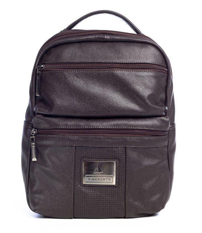 8b2379589 Mochila masculina com dois bolsos de couro marrom - Enluaze - Bolsas,  mochilas, roupas e acessórios