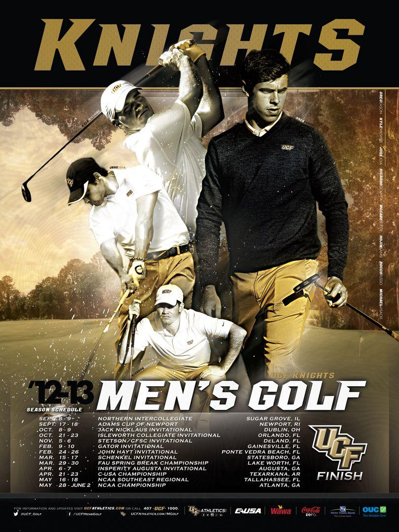 201213 UCF Men's Golf schedule poster Golf, Mens golf