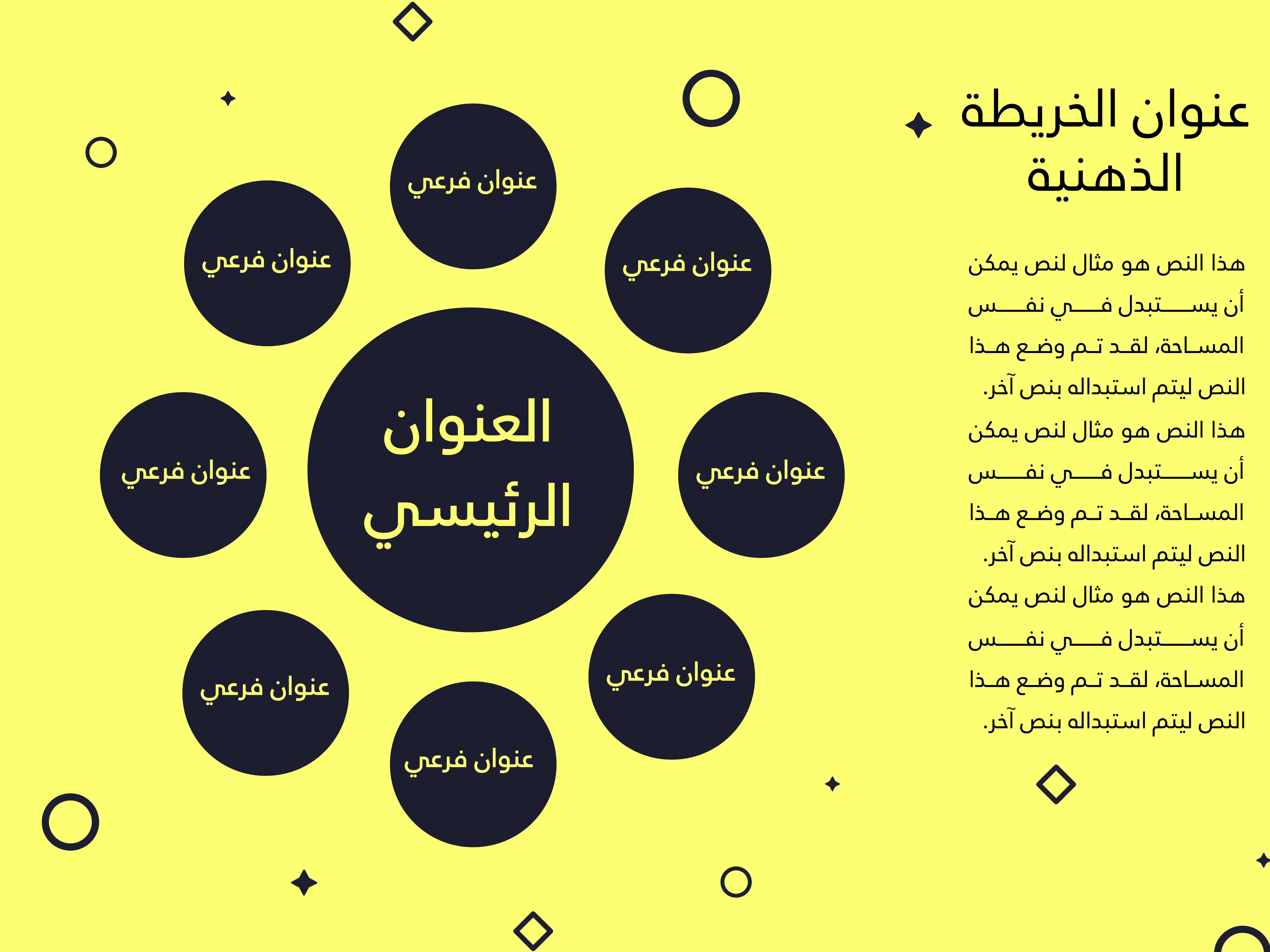 قالب خريطة ذهنية عربي تعليمي مميز واحترافي Arabic Books Wallpaper Backgrounds Pill