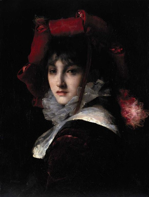 soyouthinkyoucansee: brozik vaclav portret madame Christiane Fuller