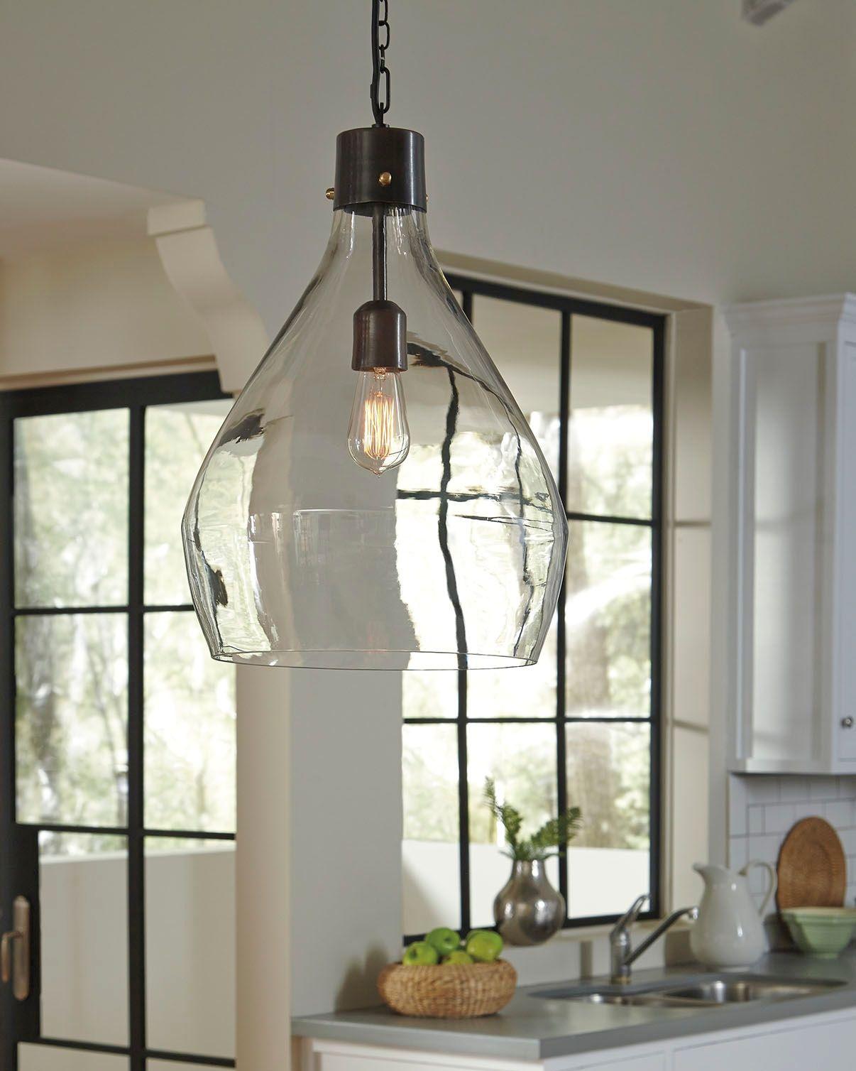 Beleuchtung ideen über kücheninsel avalbane pendant light cleargray  es werde licht in