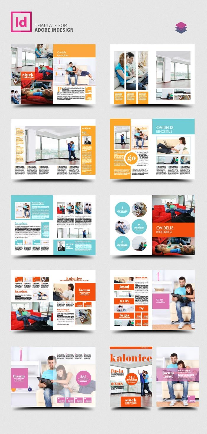 FREE InDesign PRO Magazine Template: Kalonice | Graphics | Pinterest ...