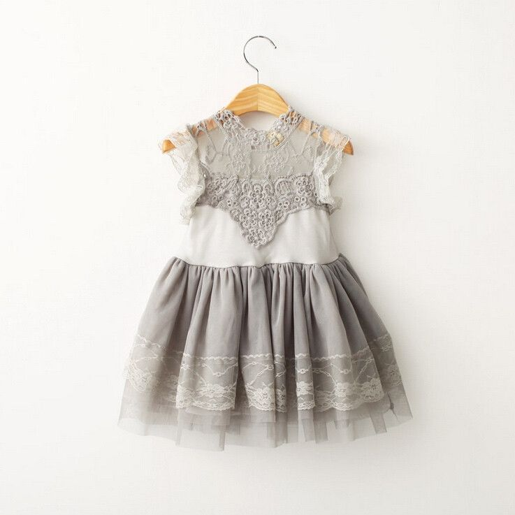 Gray vintage lace dresses
