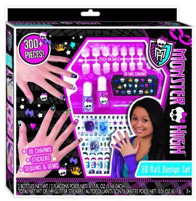 Amazon Com Monster High 3d Nail Design Set Toys Games Monster High Nails Monster High Galaxy Crafts