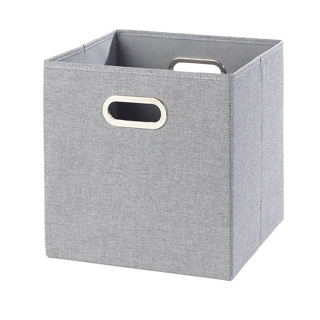 Http Www Castorama Fr Store Boite De Rangement Mixxit Grise Flanelle Carre Prod13500024 Html Sortbyvalue Relevance Na Trash Can Tall Trash Can Tissue Holders