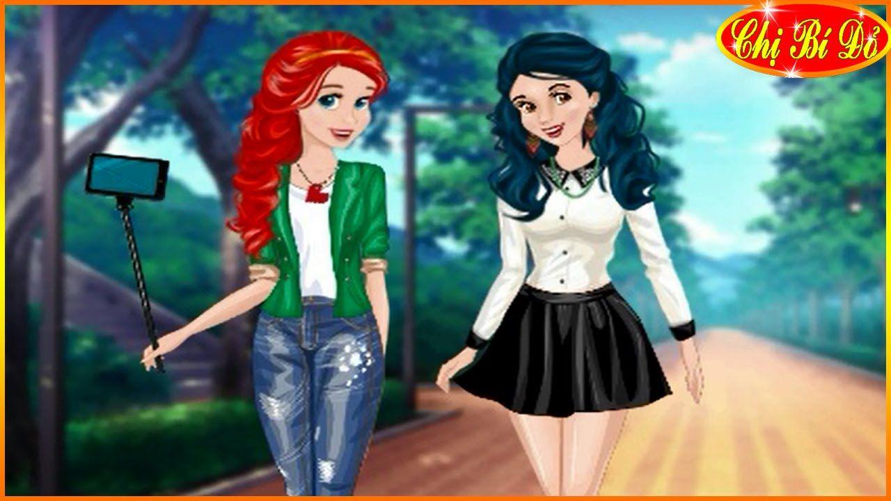 Trang phục thời trang cho công chúa Disney Ariel và Bạch Tuyết đi tản bộ