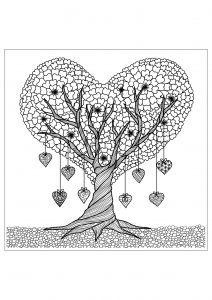 Coloriage Adulte Coeur.Coloriage Pour Adultes Cœur Fleuri Bnbees