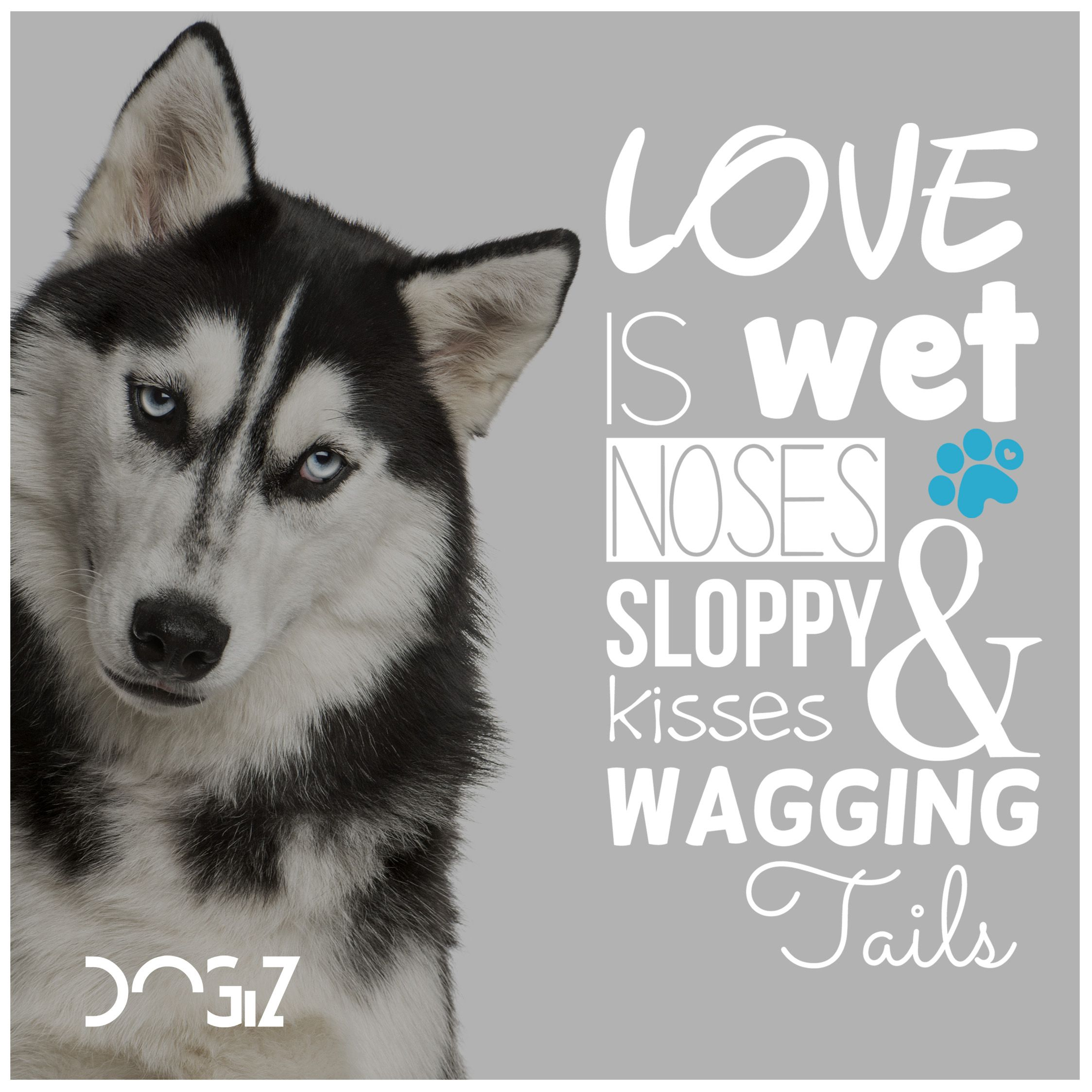 Love Is Wet Noses Sloppy Kisses Wagging Tails Dogs Dog Quote