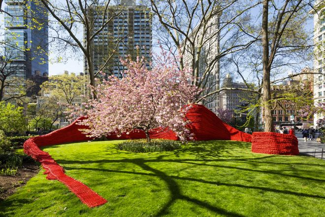 Red, Yellow and Blue: Orly Gengers installation at Madison Square Park