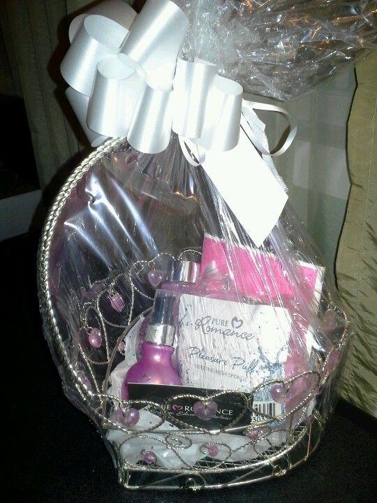 Valentine Gift Basket Pure Romance Excape Pleasure Puff Pure