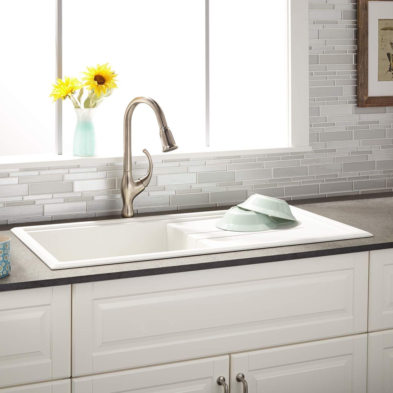 white kitchen sink with drainboard. 40\ White Kitchen Sink With Drainboard B