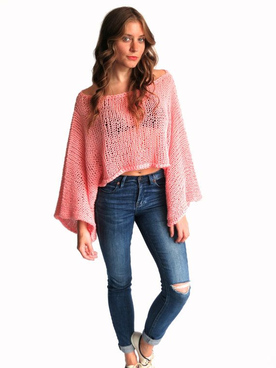 PATTERN for Loose Knit Summer Sweater Top Oversized Boho ...