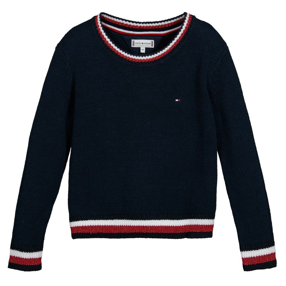Girls Cotton Knitted Sweater for Girl by Tommy Hilfiger