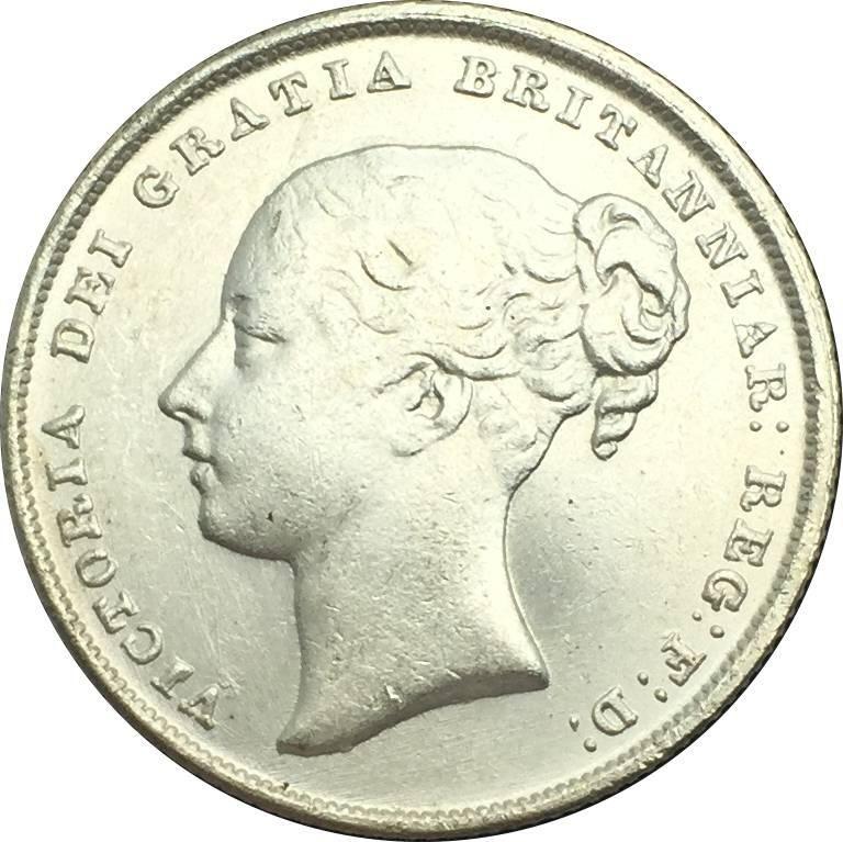 VICTORIA DEI GRATRIA BRITANNIAR 1851 One Shilling United