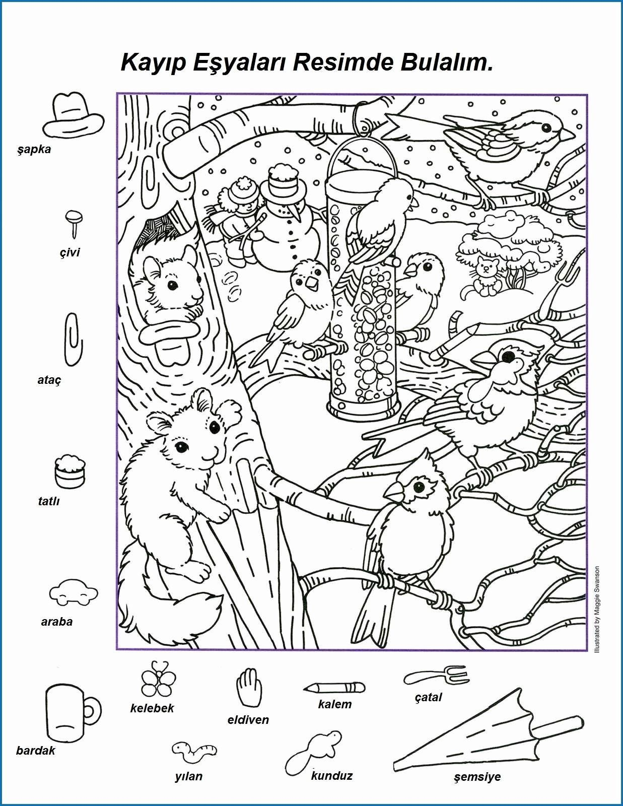 Free Winter Coloring Pages Printable Awesome Coloring Page Hidden Animals Coloring At Innovat In 2020 Hidden Pictures Printables Hidden Picture Puzzles Hidden Pictures
