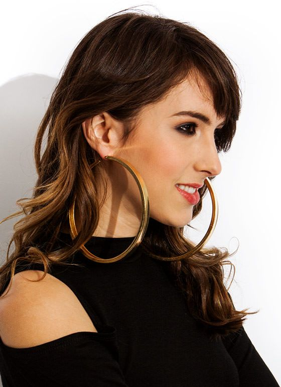Big Hoop Earrings Google Search Earrings Pinterest