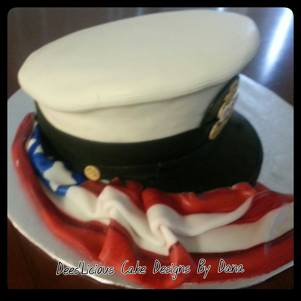 USN dress hat By: Dees'Licious Cakes by Dana