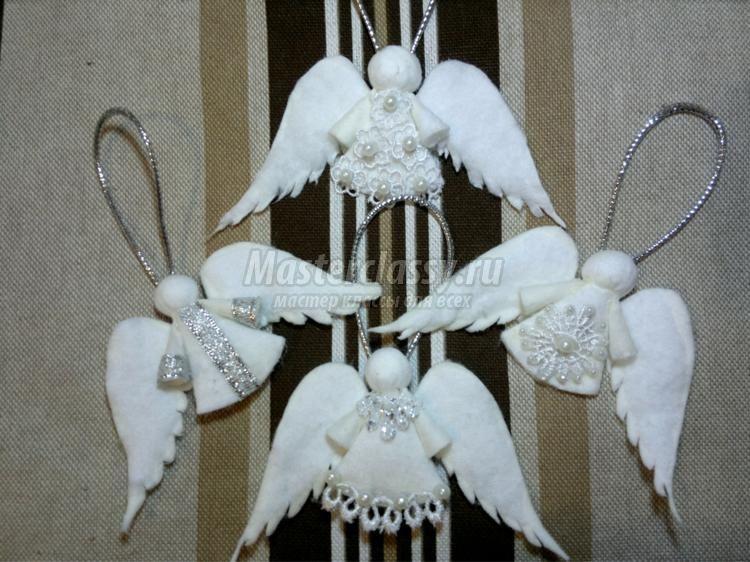 Новогодние поделки ангелочки своими руками