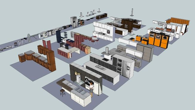 Kitchen Cabinet Collection 3d Warehouse Kitchen Cabinets ...