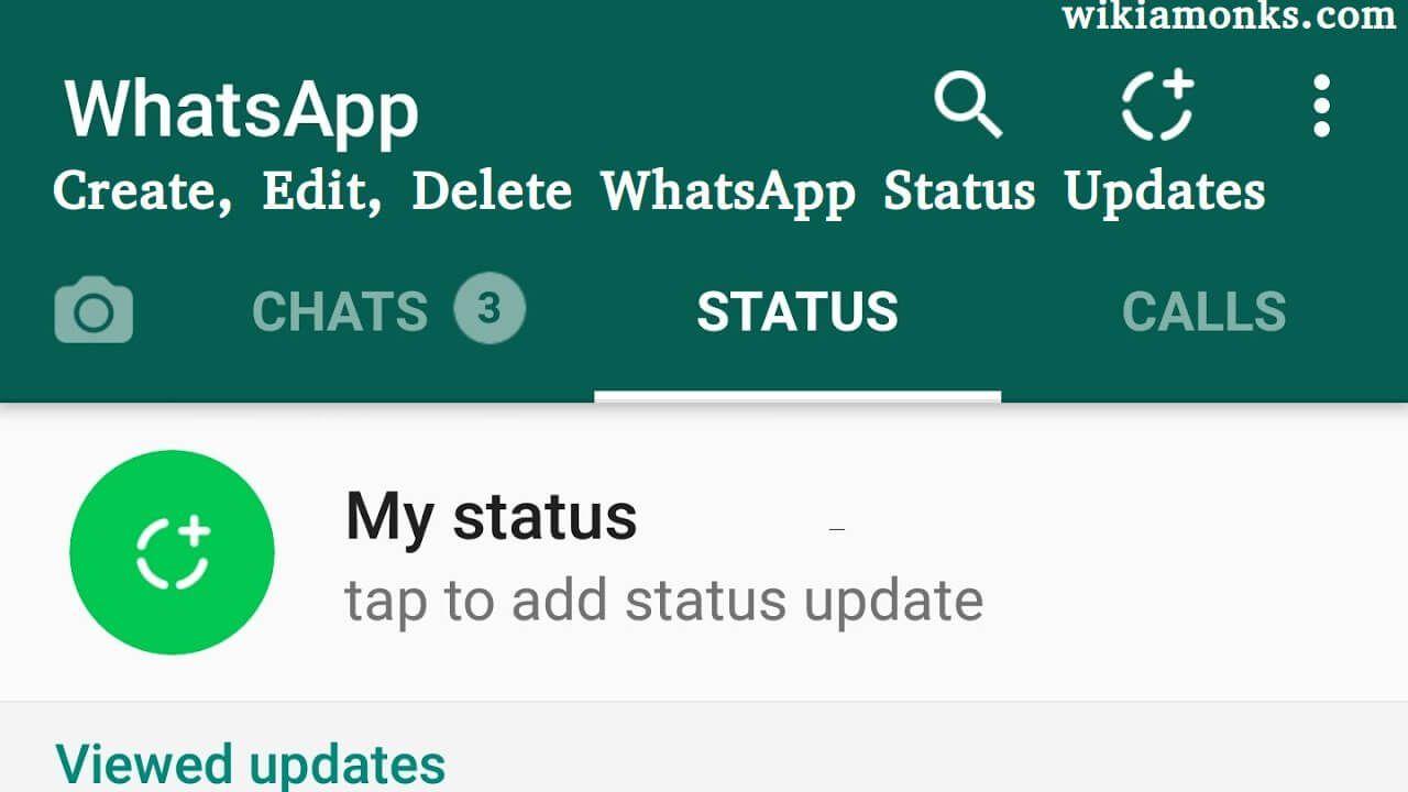 How To Create Edit Delete Whatsapp Status Updates Myself
