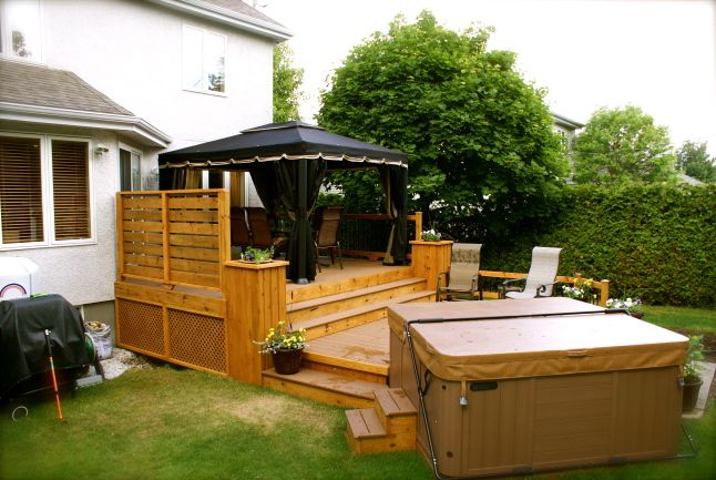 Patios spa patio pinterest recherche google for Spa et patio