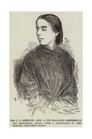 Miss E S Northcote, Aged 19, the Born-Blind Performer on the Enharmonic Organ Giclee Print by | Art.com