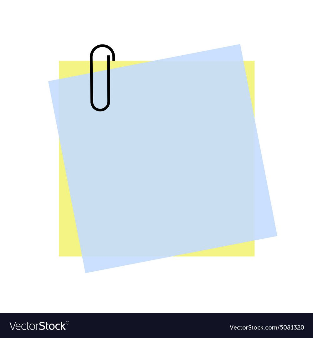 Sticky Note With Paperclip Png Clip Art Sticky Notes Paper Clip Clip Art