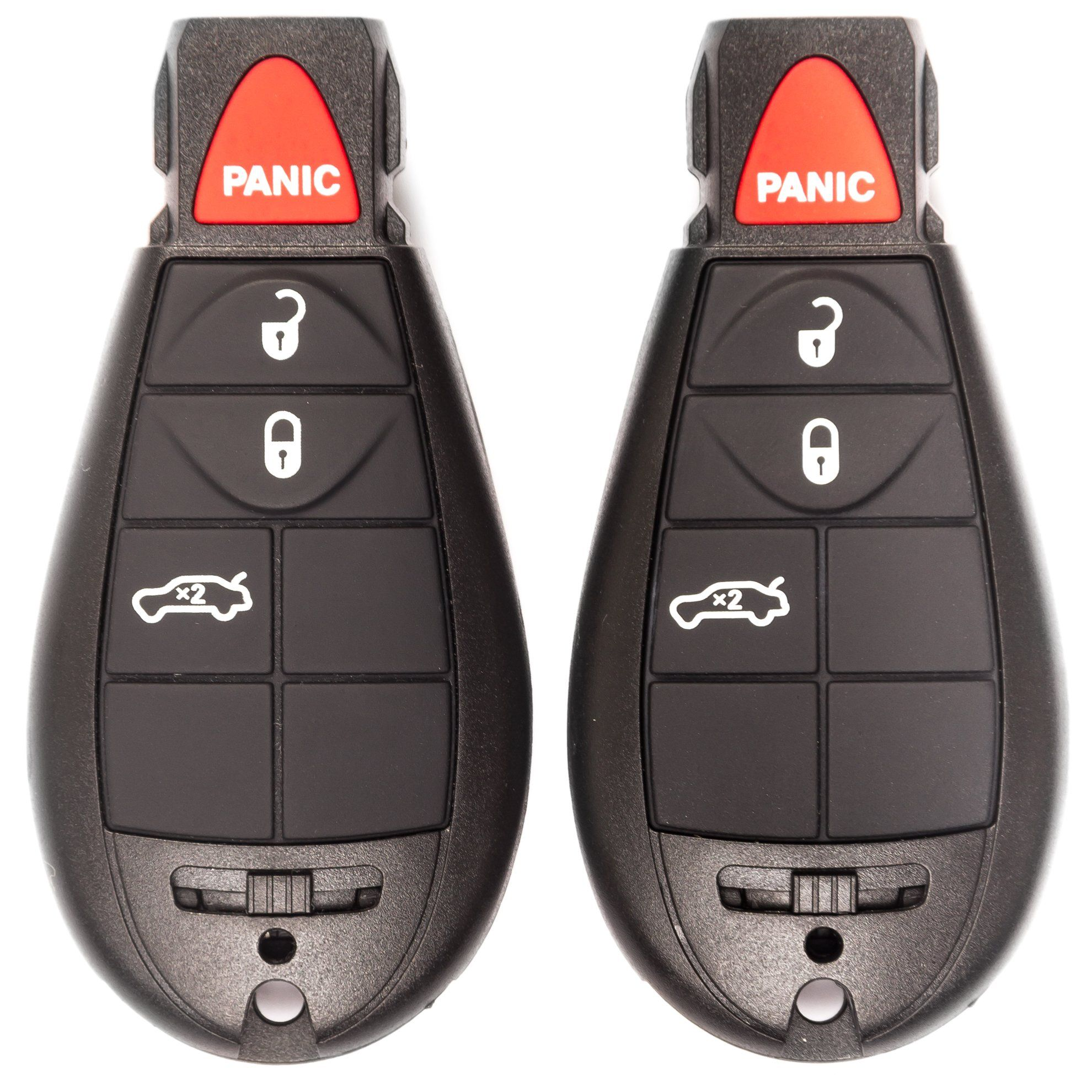 New Key Fob Remote Transmitter 4 Button Set Of 2 Key Fob