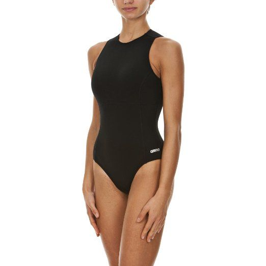 Arena Women S Waterpolo Fl One Piece Black Metallic Silver Size 28 One Piece Women S One Piece Swimsuits Water Polo