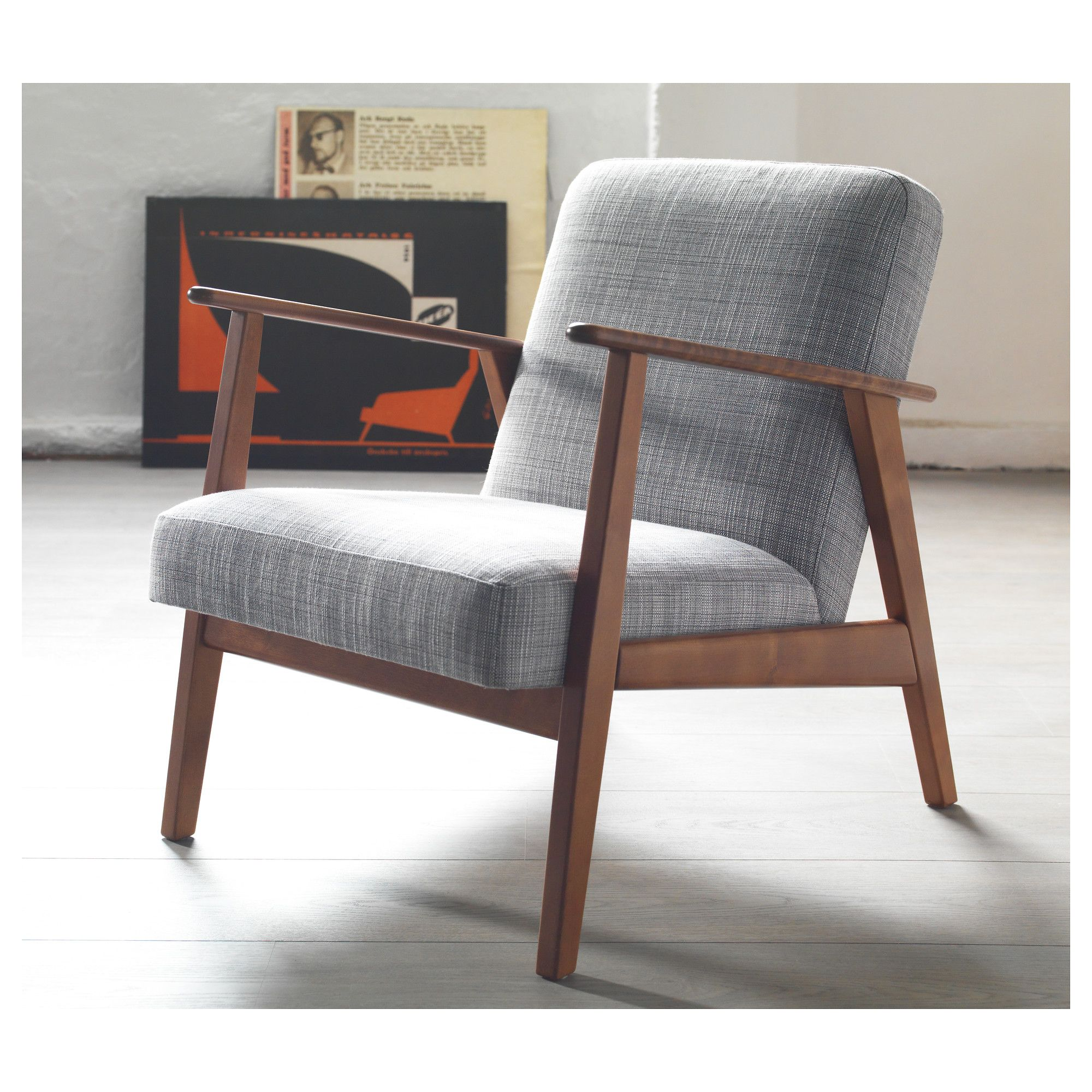 Vintage Ikea Lounge Chair EkenÄset Armchair Isunda Grey Chairs Ikea Armchair