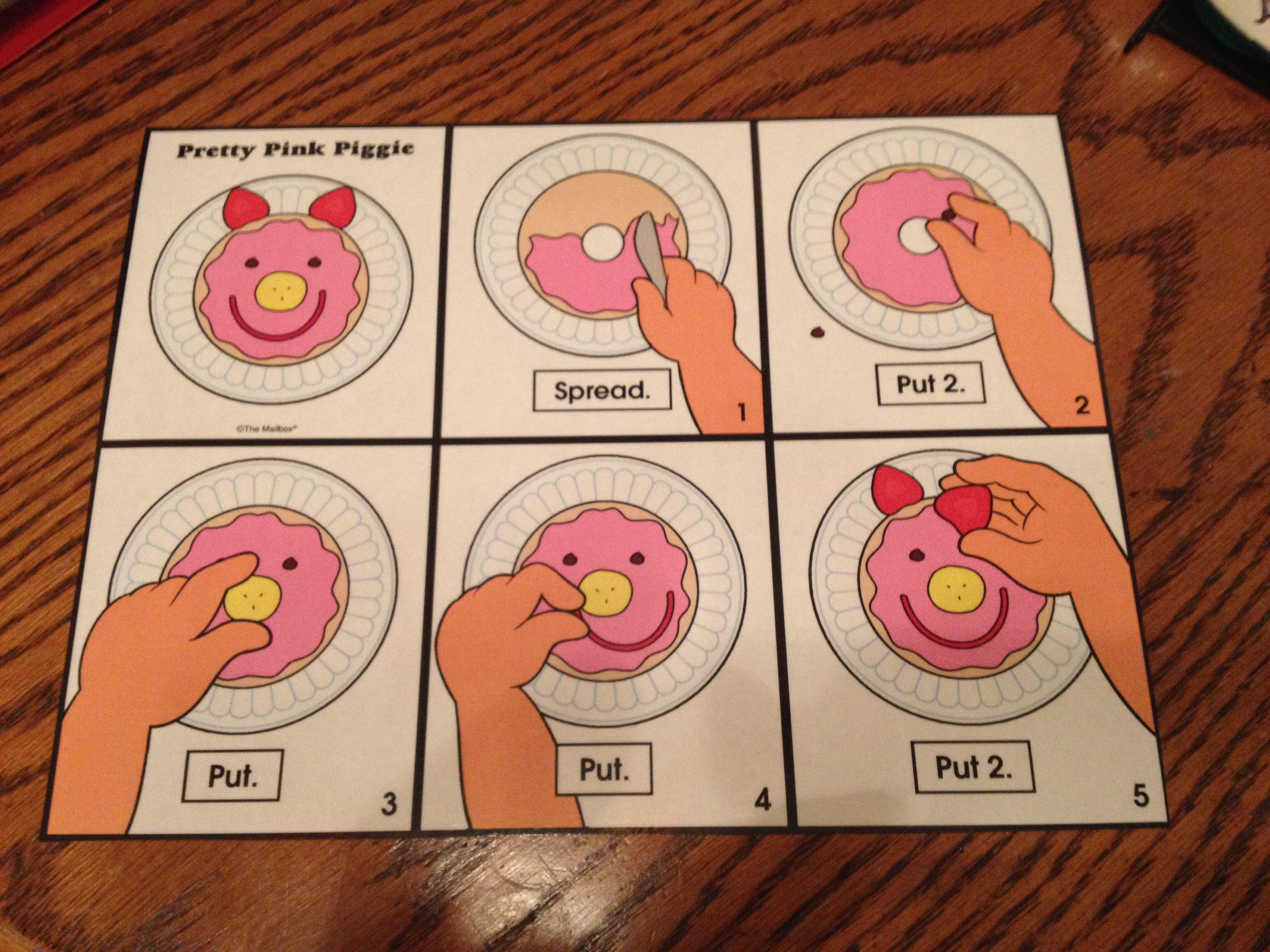 Rebus Recipe Pretty Pink Piggies Preschool Farm Unit
