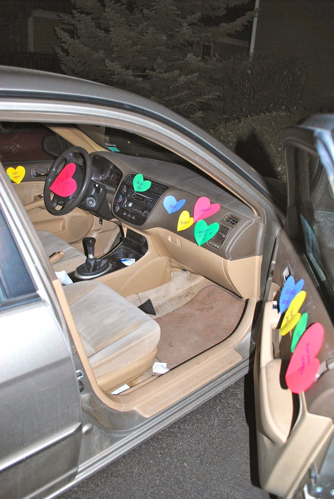 Post It Notes Car Valentines Surprise For Him Day Gifts Marriage